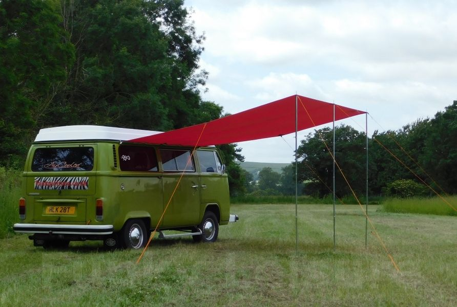 Vw T2 T25 Campervan Sun Canopy Awning Chianti Red